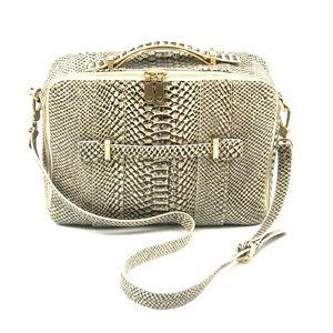 Leifsdottir Anthropologie Python Crossbody Bag